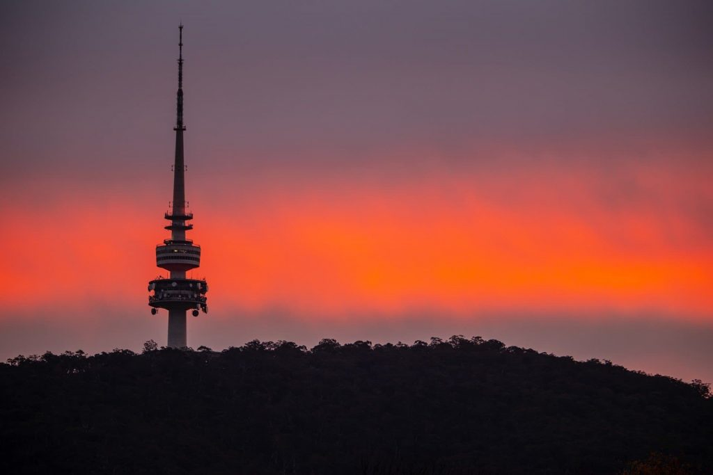 Black Moutain Tower ou Telstra tower em Camberra