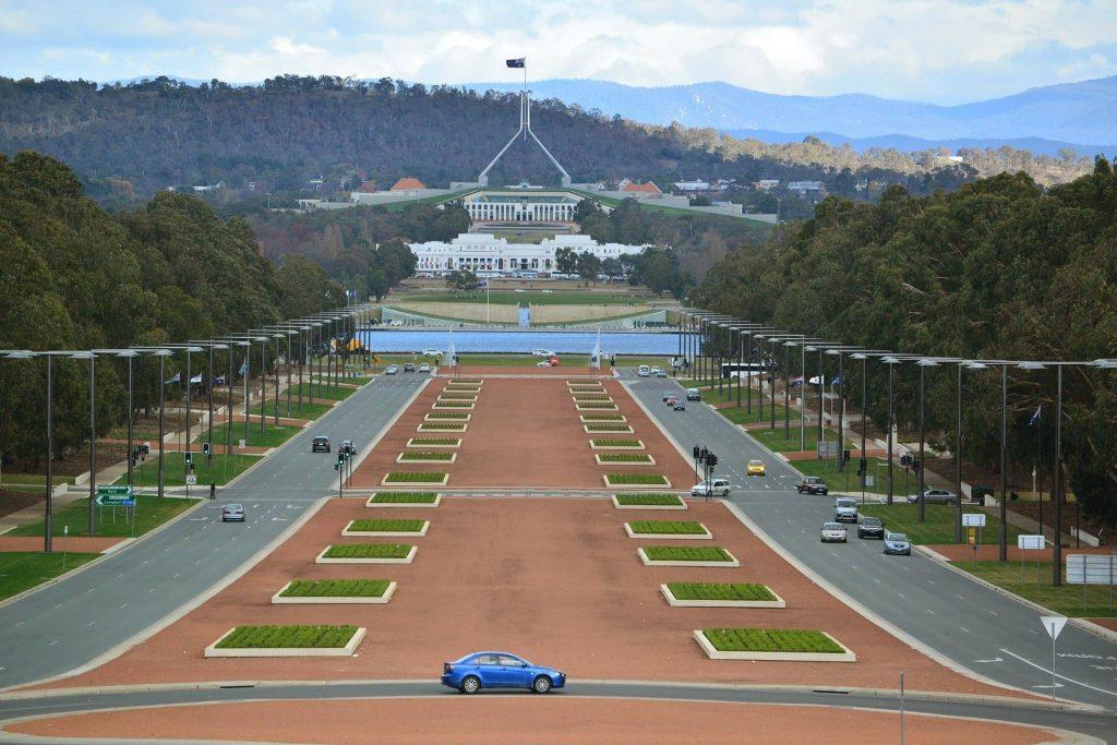 Casa do Parlamento em Camberra na Australia