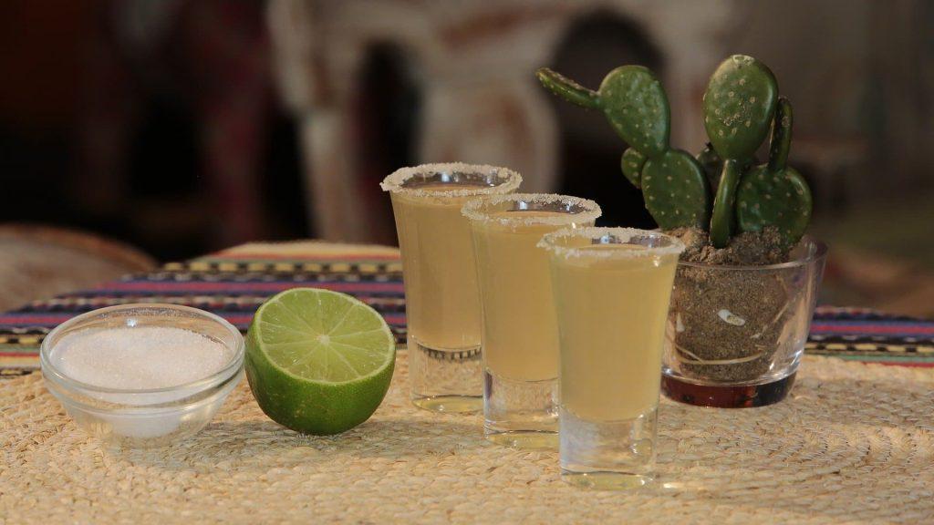 Tequila, a bedida tradicional do Mexico. Bares na Cidade do Mexico
