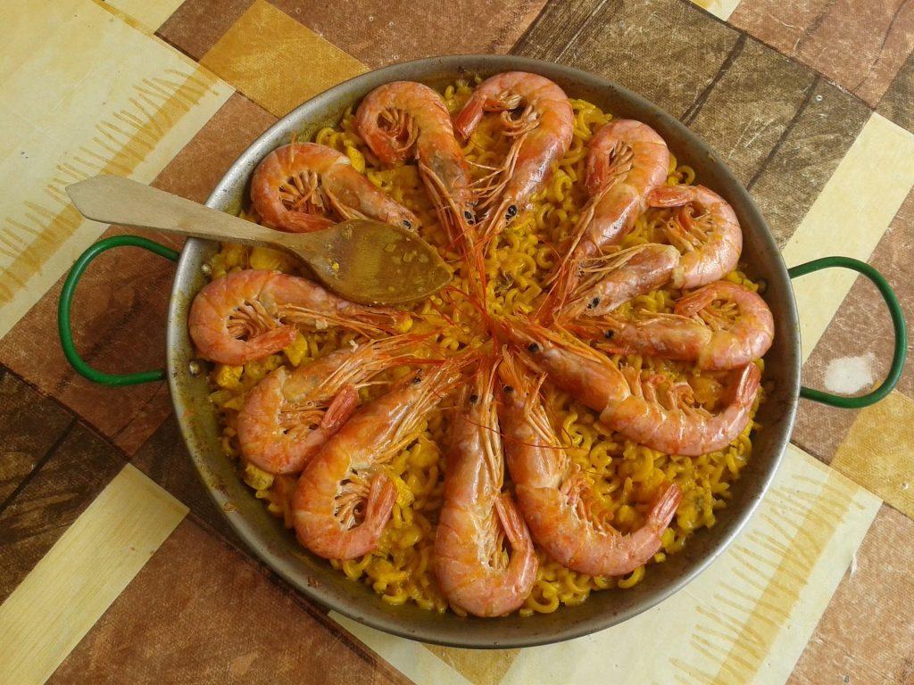 Prato típico de Gandia na região valenciana na Espanha