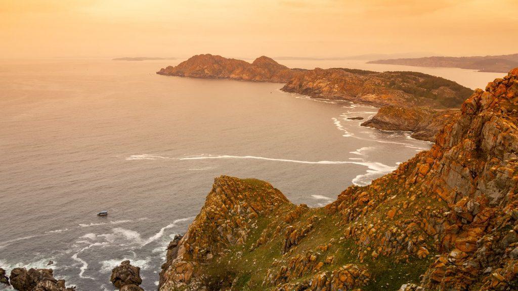 Ilhas Cíes na região da Galícia na Espanha