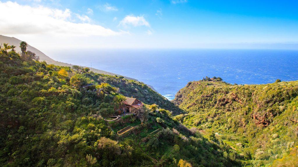 La Palma nas Ilhas Canárias na Espanha