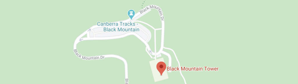 Mapa da Black Mountain Tower em Camberra