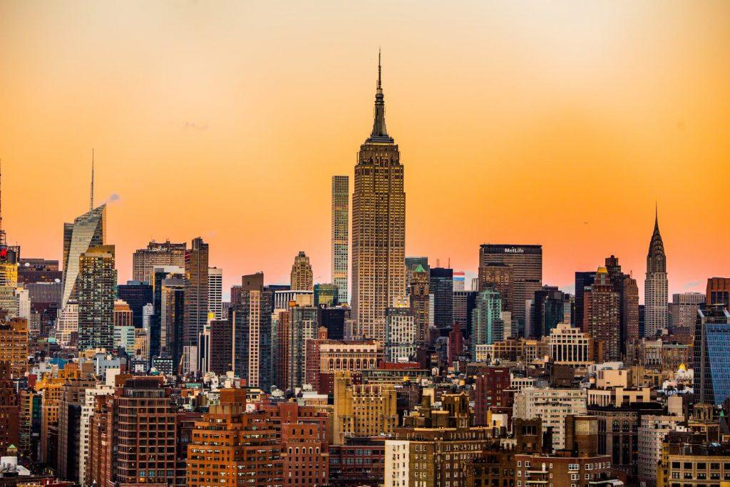 Vista panorâmica de Nova Iorque nos Estados Unidos