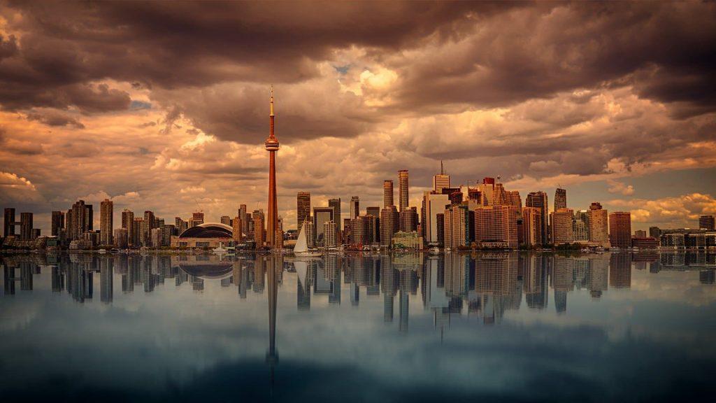Vista panorâmica de Toronto no Canadá.