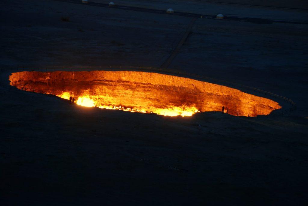 Buraco de fogo no Turcomenistão