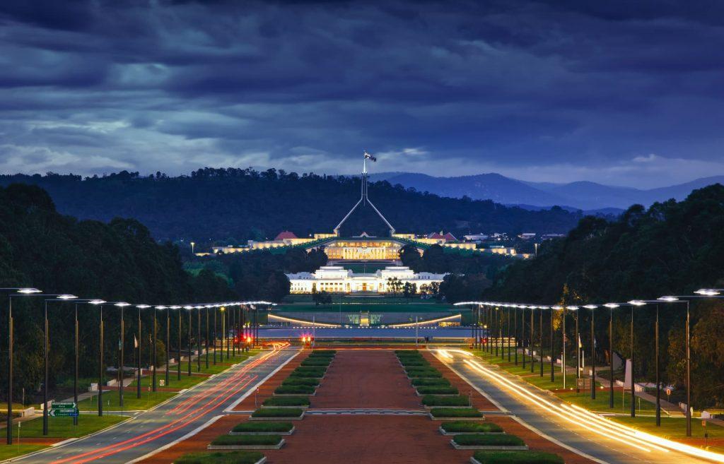 Qual é a capital da Austrália?