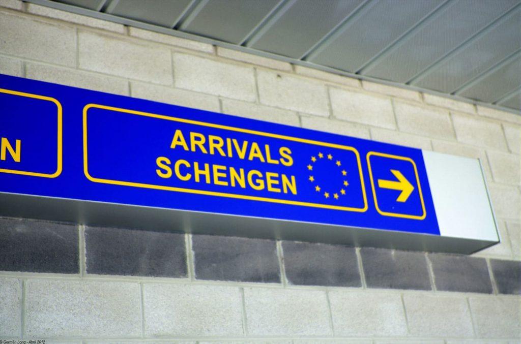 Espaço Schengen - Chegada aeroporto