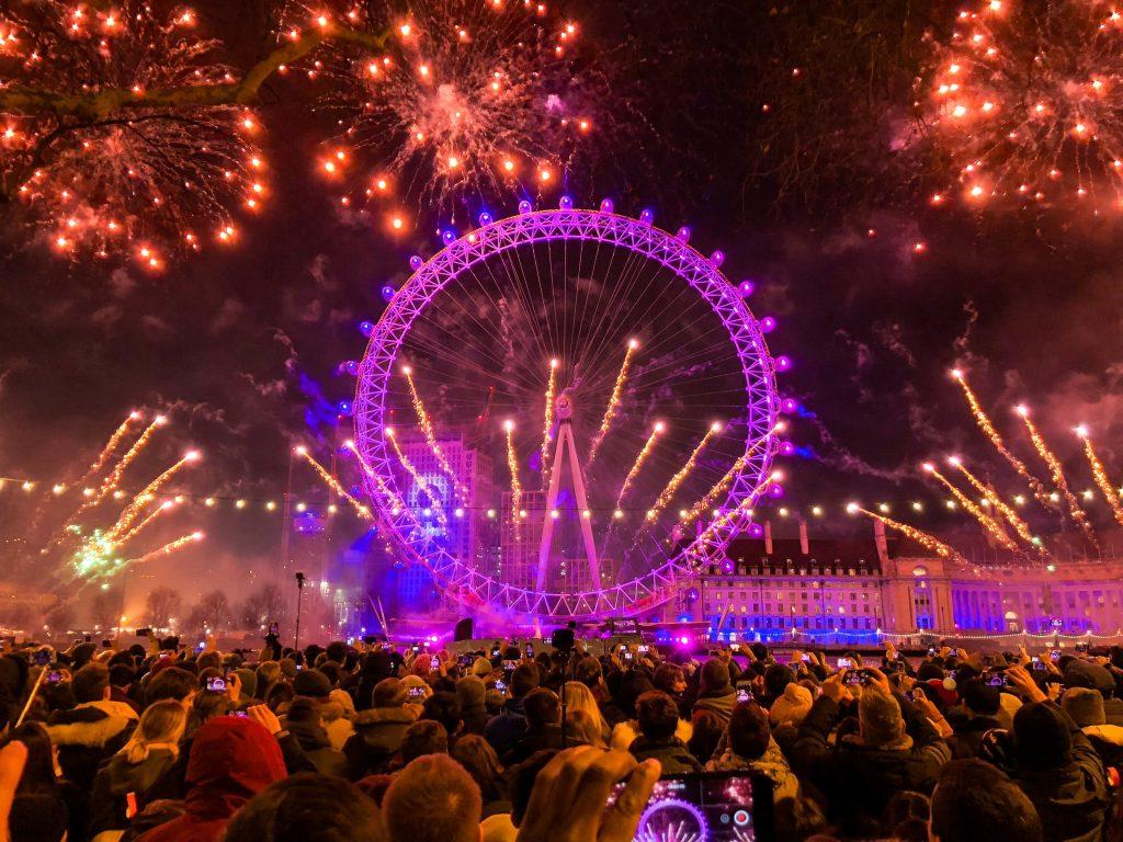Roda-gigante London Eye em Londres na Inglaterra