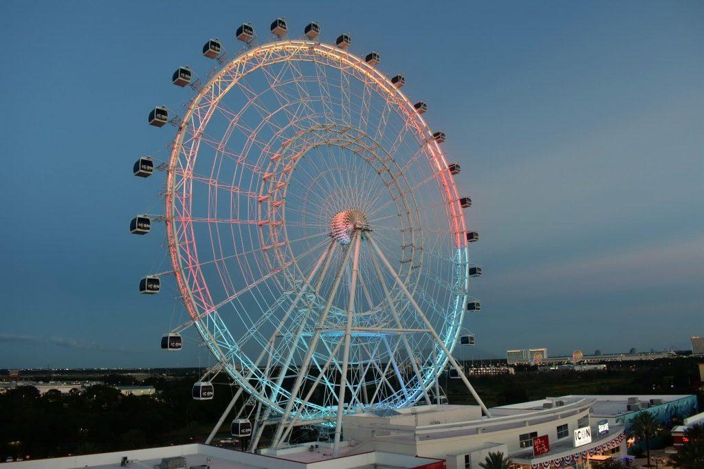 Roda-gigante Orlando Eye em Orlando nos Estados Unidos