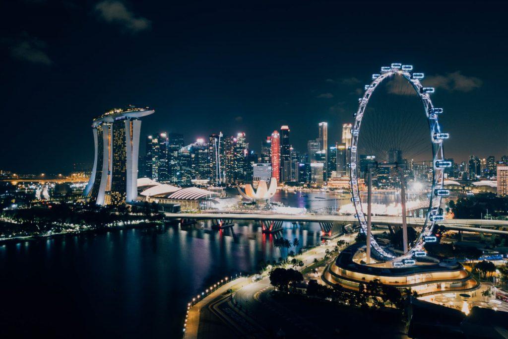 Roda-gigante Singapore Flyer em Singapura.