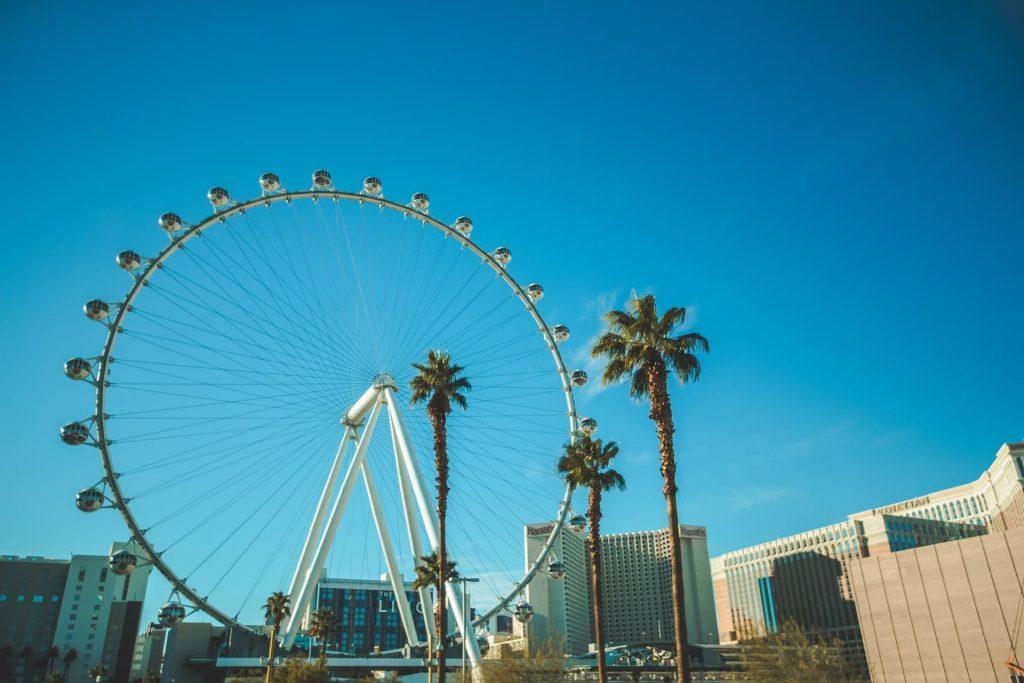 Roda0gigante The High Roller em Las Vegas nos Estados Unidos