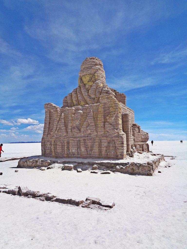 Salar Uyuni na Boívia, monumento Dakar