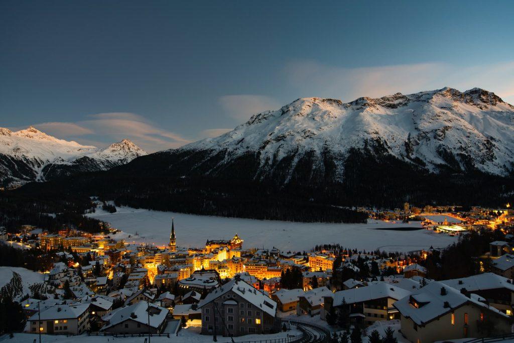 Destino de montanha, St. Moritz, Suíça