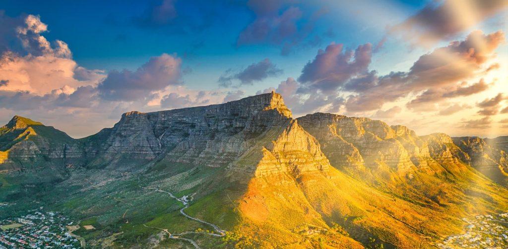 Table Moutain na Cidade do Cabo na Africa do Sul
