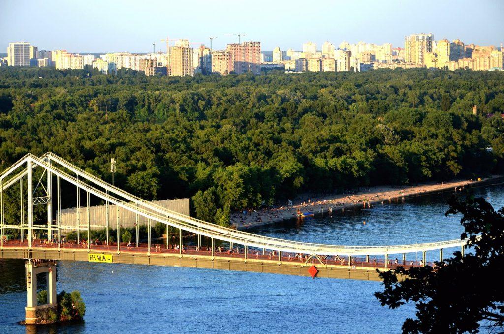 Hidropark em Kiev na Ucrânia