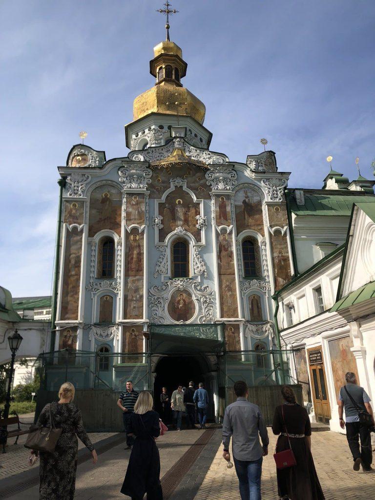 Mosteiro de Kiev-Petchersk em Kiev na Ucrânia