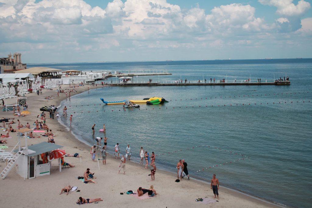 Arcadia Beach em Odessa na Ucrânia