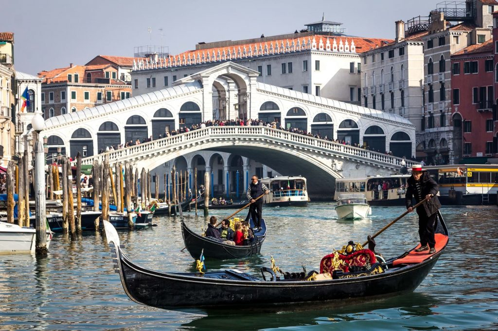 As Gôndolas de Veneza