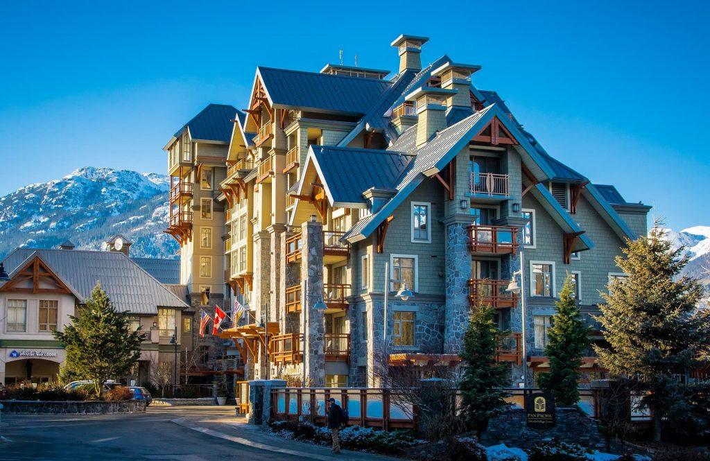 Destino de montanha em Whistler no Canadá