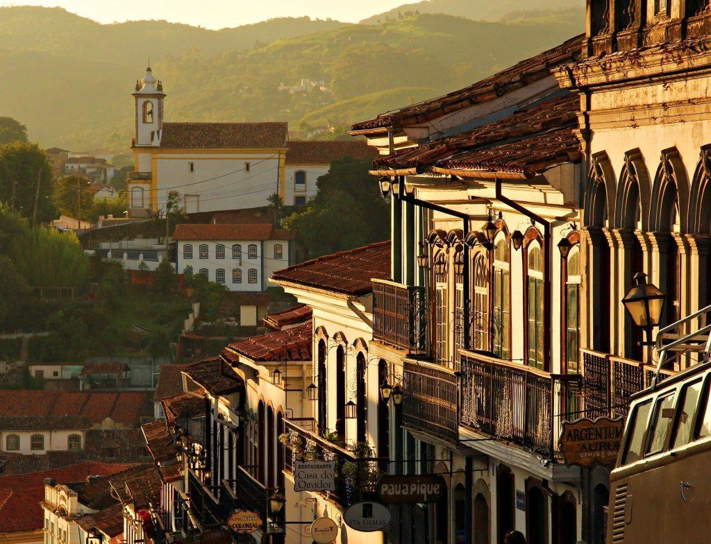 As montanhas de Ouro Preto