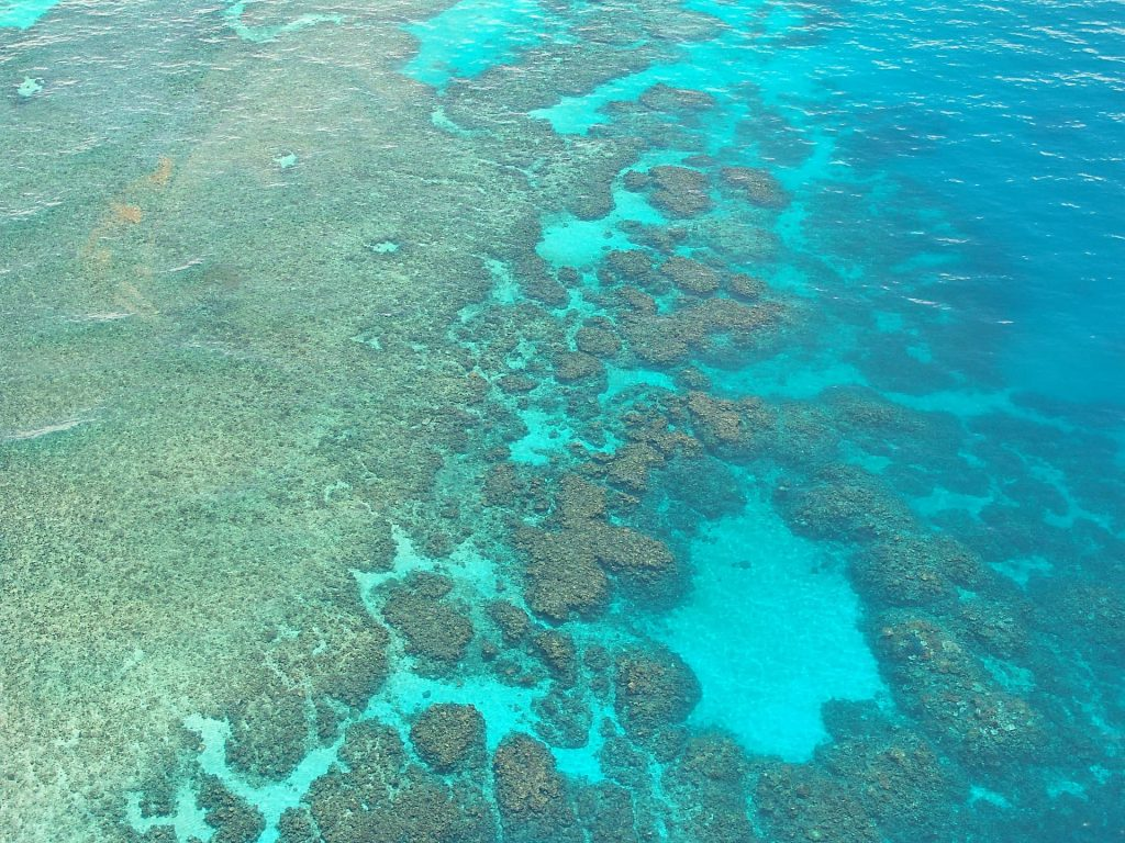 A Grande Barreira de Corais na Australia
