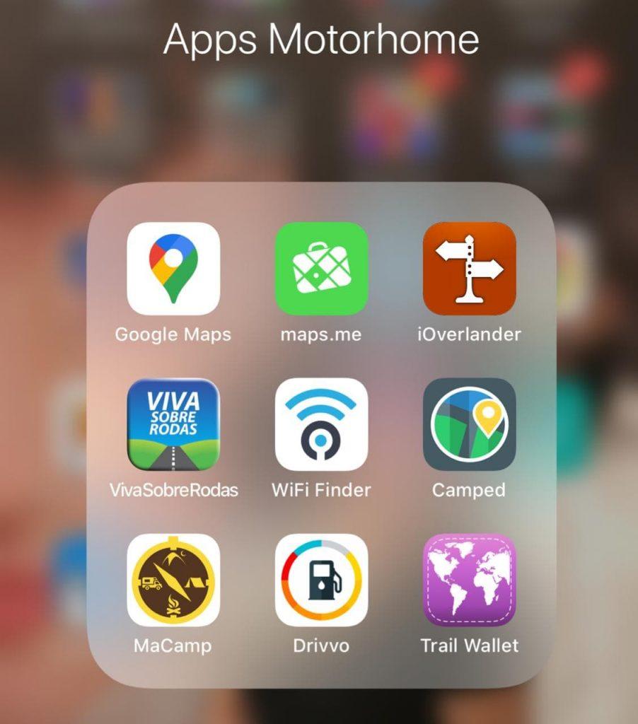 App para viagens de Motorhome