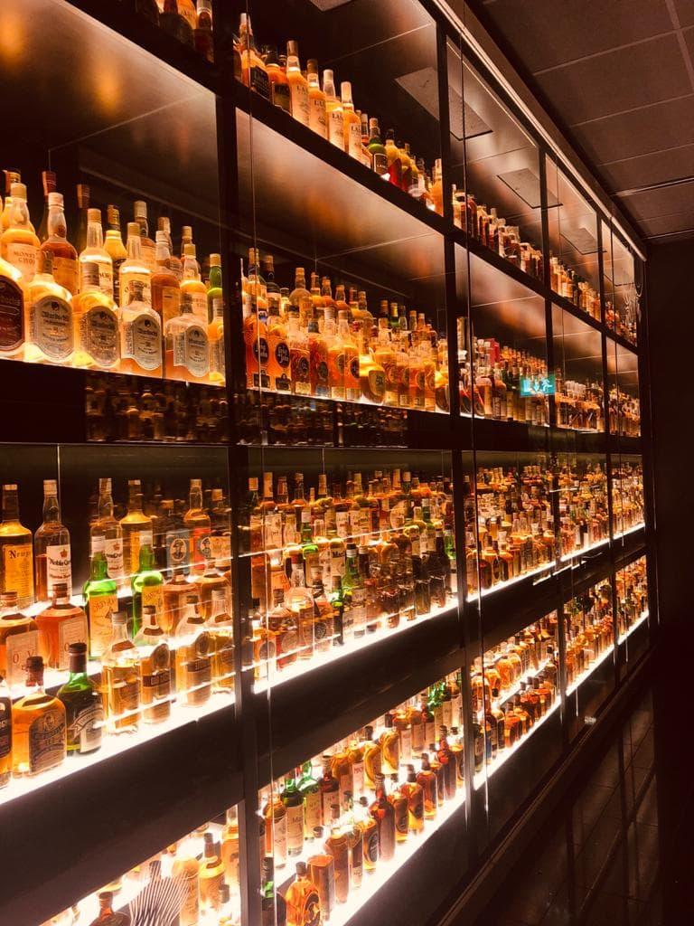 A coleção de Whisky Escocês
