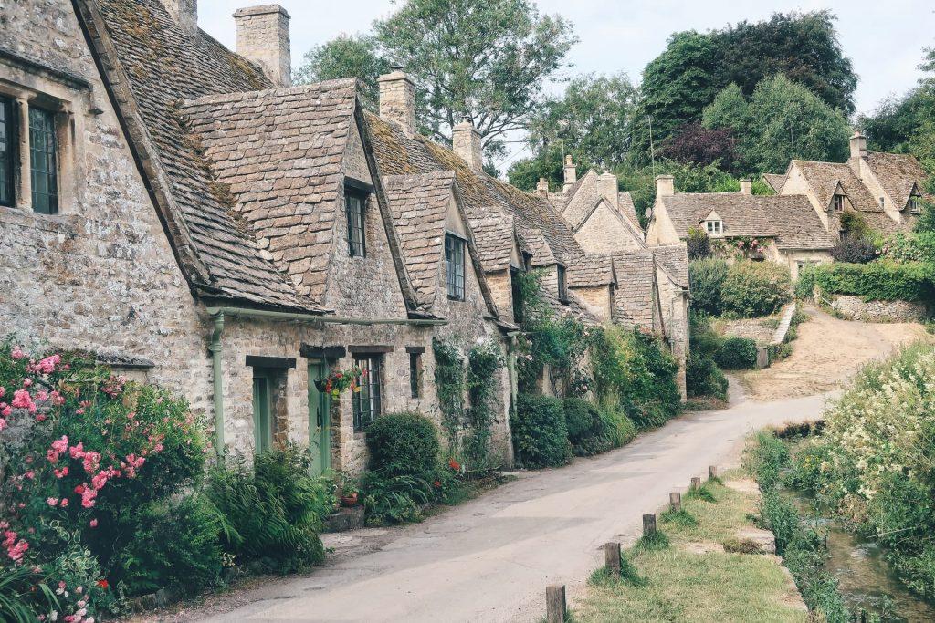 Vilarejo de Bibury na Inglaterra