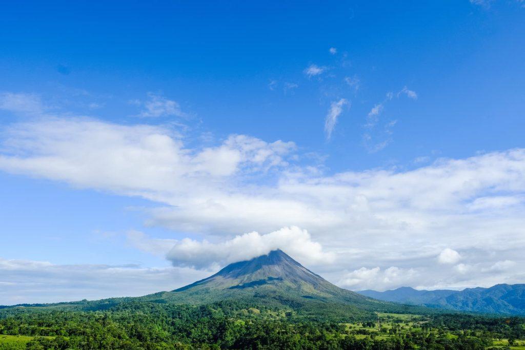 Vulcão moas na Costa Rica
