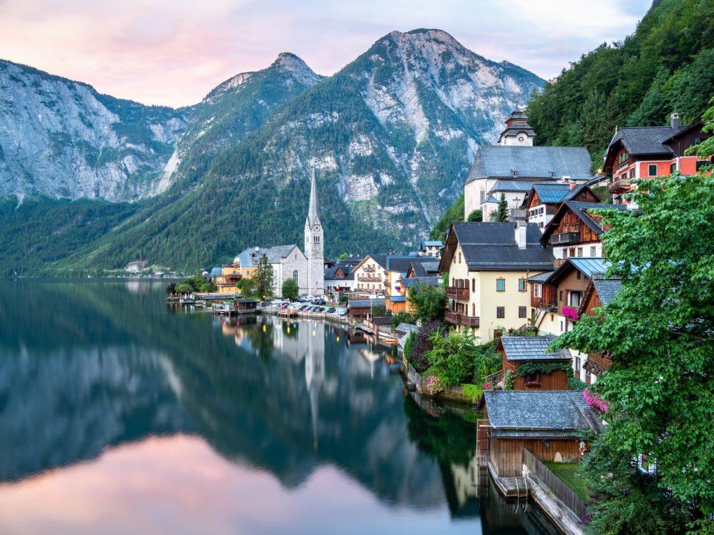 vilarejos de Hallstatt na Austria