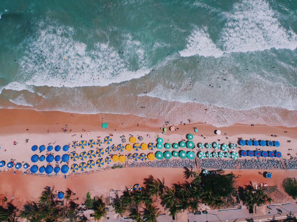 Praia de Ponta Negra em Natal no Nordeste Brasileiro