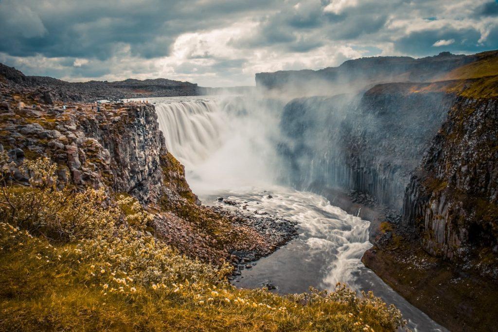 Cachoeira Dettifoss na Islândia