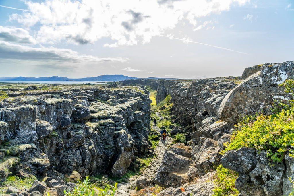 Parque Nacional  Thingvellir na Islândia