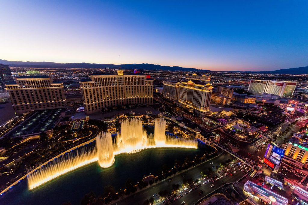 Las Vegas em Nevada na costa oeste dos Estados Unidos