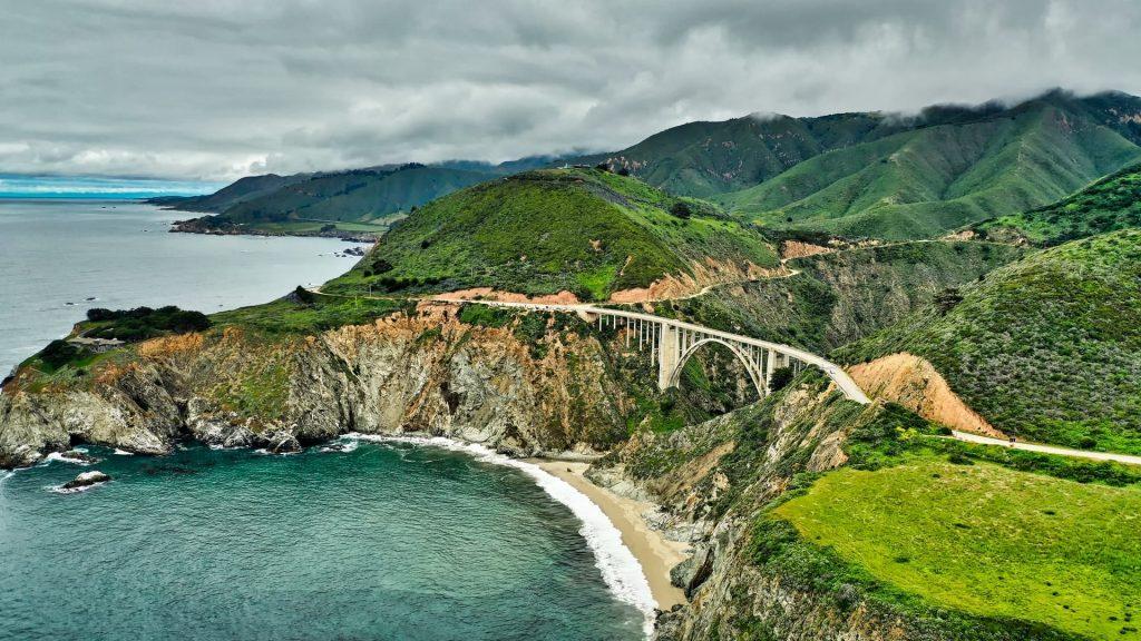 Monterey na California na costa oeste dos estados unidos