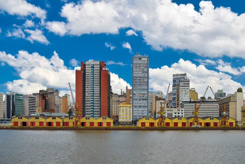 Rio Guaíba em Porto Alegre no Rio Grande do Sul