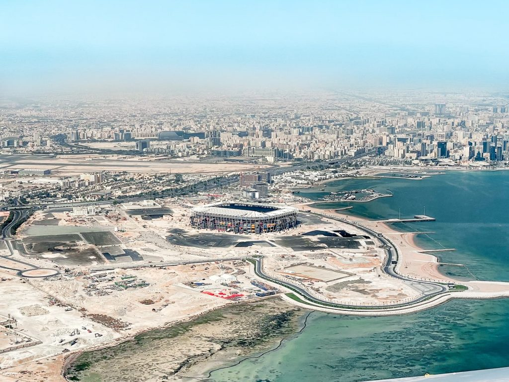 Construção de um estádio no Catar para a Copa do Mundo
