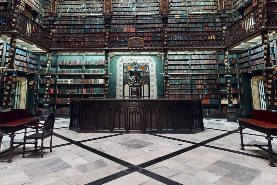Real gabinete Português de literatura no Rio de Janeiro