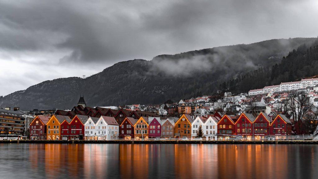 Casinhas na Noruega